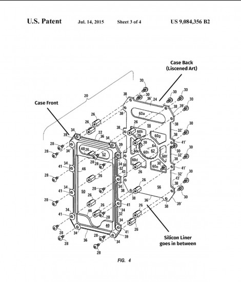U.S. Patent for cases and description of items.