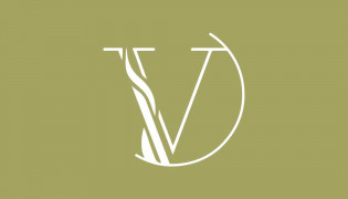 The Vine on Middle Creek Icon Logo on Olive Green Background